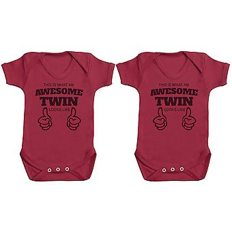 Awesome Twins - Twin Set - Baby Bodysuits