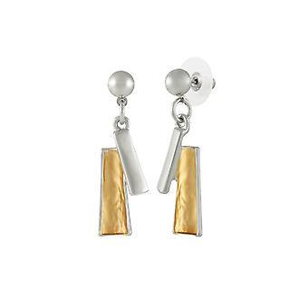 Eternal Collection Contempo Gold Tone Drop Boucles d'oreilles percées