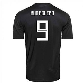 2018-2019 Argentina Away Adidas Football Shirt (Kun Aguero 9)