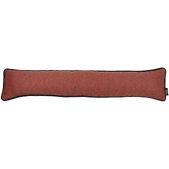 Mcalister textiles herringbone boutique red + grey draught excluder