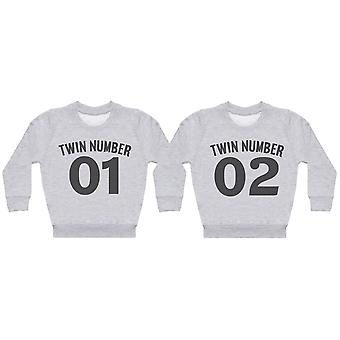 Twin Number 1, Number 2 - Twin Set - Baby / Kids Sweaters