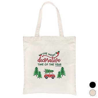 Decorative Christmas Time Cute Canvas Bag X-mas Present