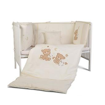 Cangaroo knuffel 9-delige baby bed Set 120 x 60 cm covers deken kisse kant Guard