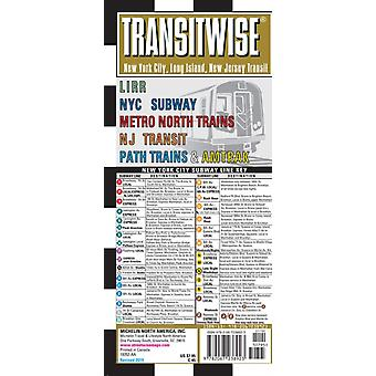 Streetwise Map New York Transitwise  Laminated City Center Street Map of New York Transitwise  City Plans