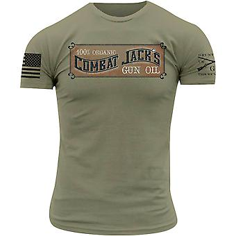 Grunt Style Combat Jack's Gun Oil T-Shirt - Olive Green