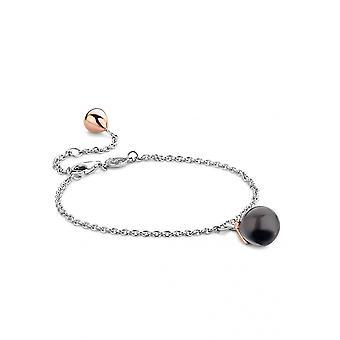Ti Sento 2919GB Armband - Silber Blume Knopf transluzente blaue Frau