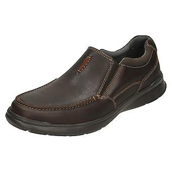 Mens Clarks Casual schoenen Cotrell gratis - vette bruinleren - UK Size 11G - EU Size 46 - Amerikaanse maat 12M