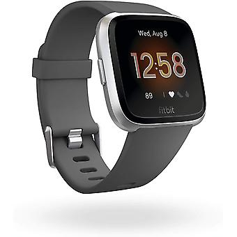 Fitbit Versa Lite Health & Fitness Smartwatch with Heart Rate, 4+ Day Battery & Water Resistance - Grey (Charcoal/Silver Aluminum)