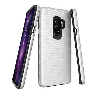 لسامسونج غالاكسي S9 + زائد القضية، الدرع الفضي غطاء الهاتف واقية من الصدمات
