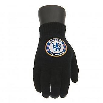 Chelsea FC Childrens/Kids Knitted Gloves