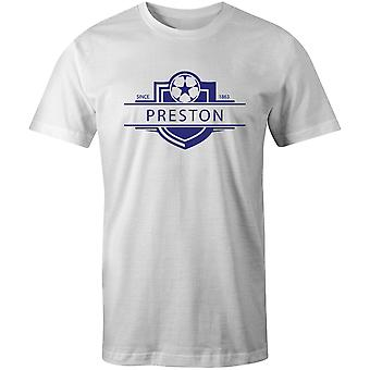 プレストンノースエンド1863確立バッジフットボールTシャツ