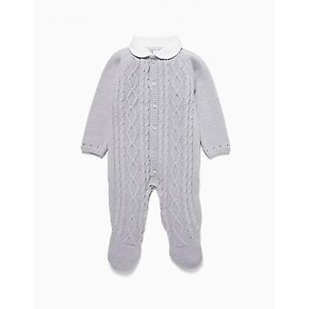 Zippy Nb Overall Knit Light Grey