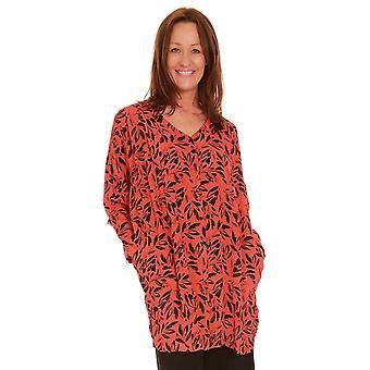 MASAI CLOTHING Masai Orange And Black Tunic Ianti 1000439