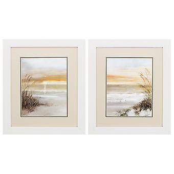 "19"" X 22"" White Frame Malibu Solstice (Set of 2)"