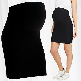Mamalicious Maternity Skirt Pregnancy Pencil Seamless Elegant Baby Belly