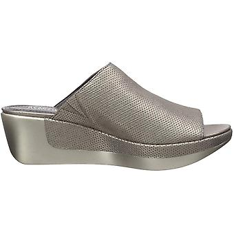 Kenneth Cole New York Womens Pepea Slide Perf Fabric Peep Toe Casual Slide Sa...