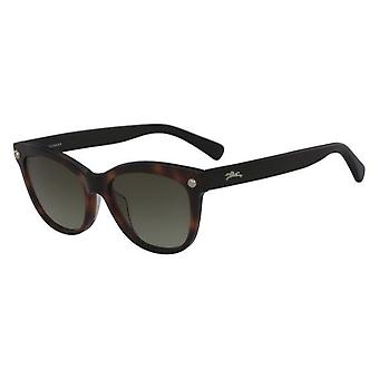 Longchamp LO614S 725 Blonde Havana/Green Sunglasses