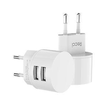Dual USB Universal White Travel Charger