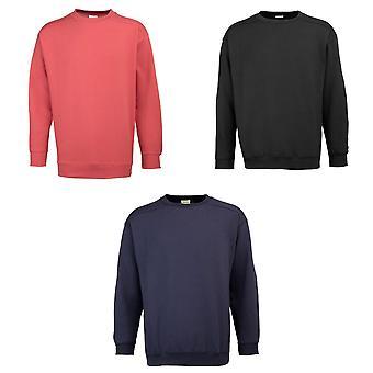 RTY Workwear Mens Plain Crew Neck Sweatshirt