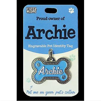 Wags & Viikset Pet Identity Tag - Archie