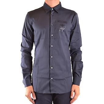 Moschino Ezbc015128 Uomo's Camicia in cotone blu