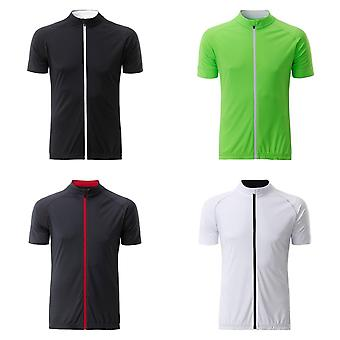 James and Nicholson Mens Bike Full Zip T-Shirt