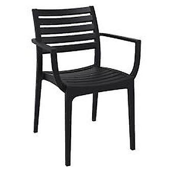 Plage7 - France Chaise de jardin Artemis taupe  Noir chaises de jardin
