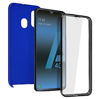 Silicone case + back cover in polycarbonate for Samsung Galaxy A40 - Bleu