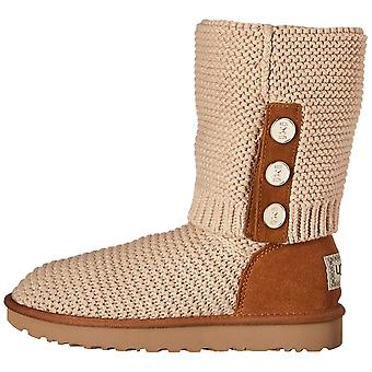 Ugg Australia Womens Cardy Fabric Closed Toe Mid-Calf Cold Weather Boots