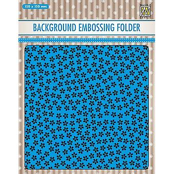 Nellie's Choice Embossing Folder Background little flowers EEB025 150x150mm