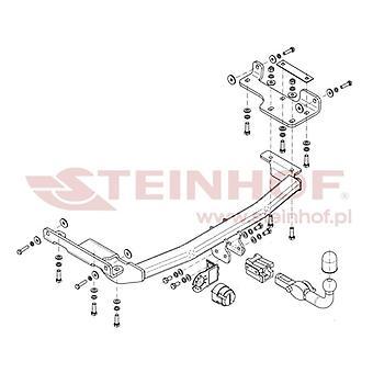 Steinhof Automatisk aftageligt anhængertræk (vandret) til Nissan MURANO 2005-2007