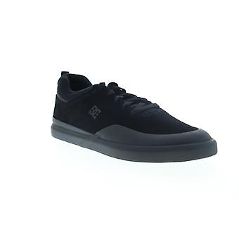 DC Infinite S  Mens Black Suede Lace Up Athletic Skate Shoes