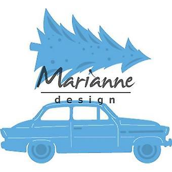 Marianne Design Creatables Cutting Dies - Driving Home For Christmas LR0567 42x48.5mm - 59x21.5mm