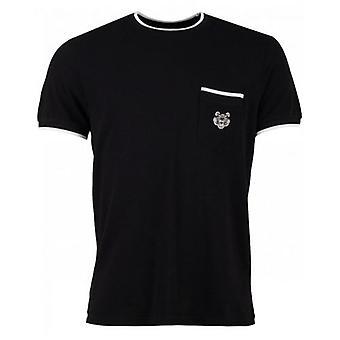 Kenzo Tiger Crest Pique Rundhals T-Shirt