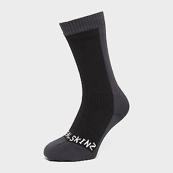 New Sealskinz Men's Waterproof Cold Weather Mid Length Sock Black
