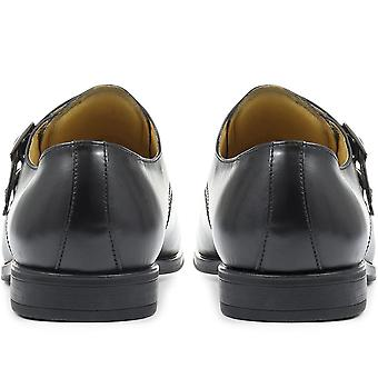 Steptronic Fresno Wide-Fit Leather Double Monk Strap Shoe
