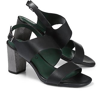 Staccato Block Heel Leather Sandal