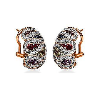 Boucles d'oreilles Diamond Gemstone - 750/- GG/WG - 1,04 ct. - 2,06 ct. - 2H325RW8-1