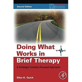 Doing What Works in Brief Therapy: Strateginen ratkaisu keskittynyt lähestymistapa (käytännön resursseja Mielenterveys alan ammattilainen)