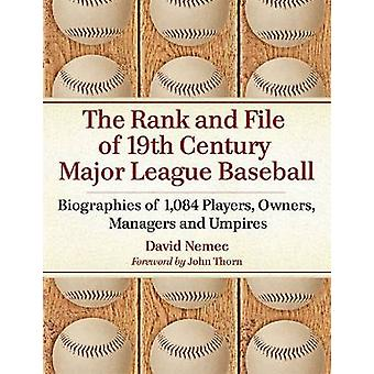 The Rank and File of 19th Century Major League Baseball - Biographies