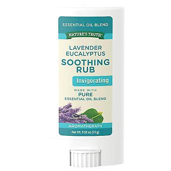 Nature's truth essential oil blend soothing rub lavender eucalyptus, 15 gm