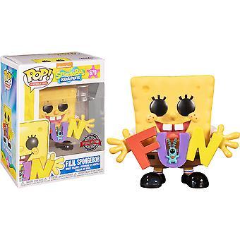 Spongebob with FUN US Exclusive Pop! Vinyl