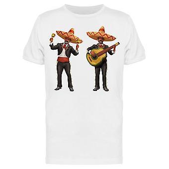 Mariachi With Guitar Maracas Tee Men's -Image by Shutterstock