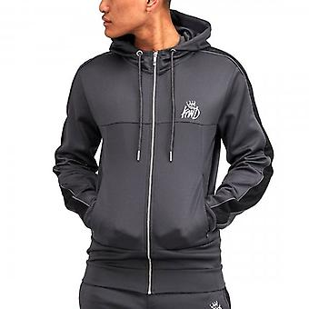 Kings Will Dream Mlorton Dark Grey Poly Zip Up Hoody