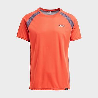 New Oex Men's Zephyr Short Sleeve T-Shirt Red
