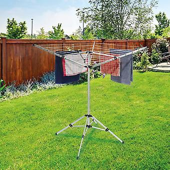Anika Portable Clothes Airer 16M Drying Space Rotary Washing Line 4 Leg Stand
