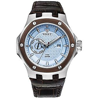 V.O.S.T. Germany V100.020 Blue Multifunction Men's Watch 44mm