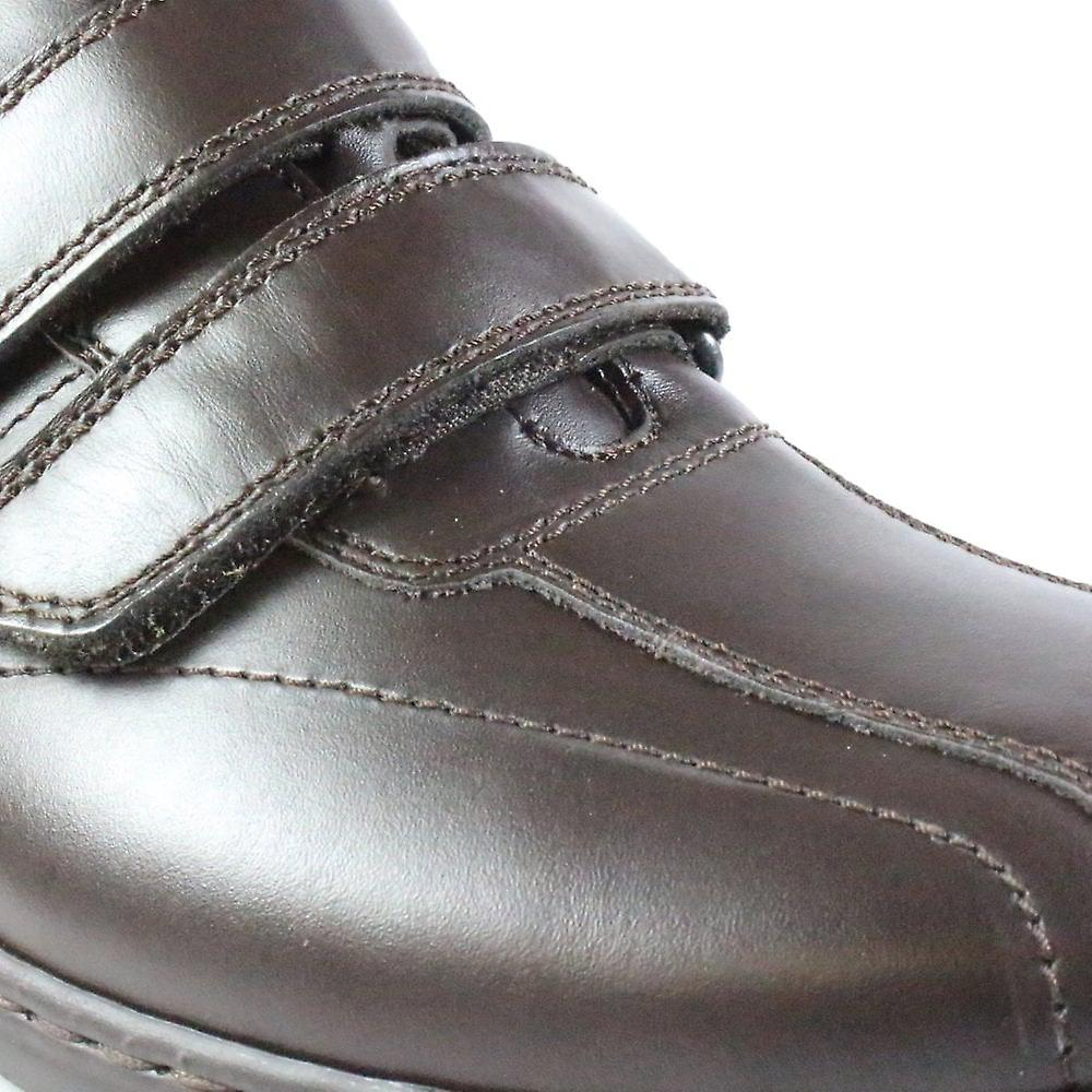 Waldlàufer Herwig 478301 174 034 Brown Leather Mens Rip Tape Casual Trainer Chaussures - Remise particulière