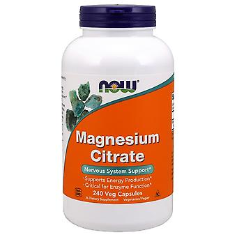 Now Foods Magnesium Citrate 400 mg 240 Vegetable Capsules