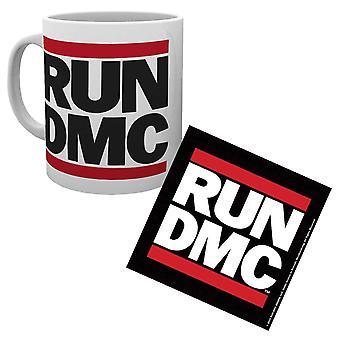 Run DMC Mug and Coaster Classic Band Logo Hip Hop new Official Gift Set